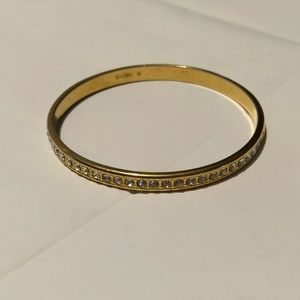 Vintage Signed Monet gold tone bangle bracelet